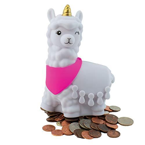 Alpen Glow Products Llamacorn Coin Bank (Coin Holder) (Llama Mixed with Unicorn Piggy Bank) (Plastic Llama for Storing Money, Coins, Miz)(1 Llamacorn per Pack)