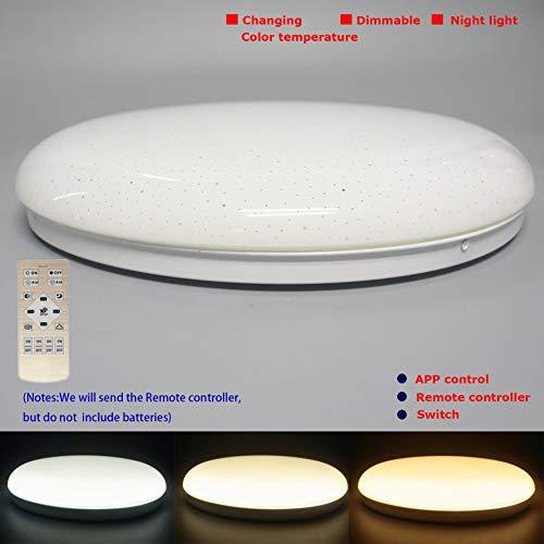 LED H/ängedraht Pendelleuchte 12W Black with changing angle, Changing color temperature Winkel einstellbar von 10-50Deg Farbtemperatur einstellbar per APP oder Fernbedienung gesteuert werden
