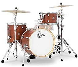 Gretsch Drums CT1-J483-SWG Catalina Club 3 Piece Drum Shell Pack, Satin Walnut Glaze