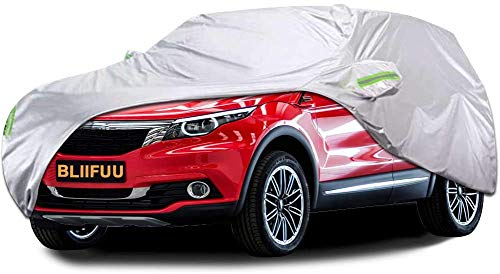 Bliifuu Car Cover,SUV Protection Cover Breathable Outdoor Indoor for All Season All Weather Waterproof/Windproof/Dustproof/Scratch Resistant Outdoor UV Protection Fits SUV Car (190