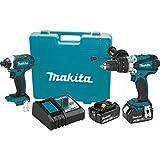 Makita XT263M 18V LXT Lithium-Ion Cordless 2-Pc. Combo Kit (4.0Ah)