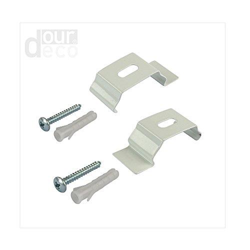 ourdeco® Doppel-Rollo, Duo-Rollo/Zubehör Klemmträger für Wand- oder Deckenmontage/Klemmen=Montage ohne Bohren=Smartfix=Klemmfix=Easy-to-fix
