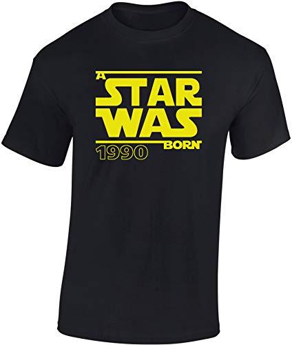 Star Was Born 1990 - Regalo de cumpleaños para Hombre-s y Mujer-es - 30 años - Treinta - Trigésimo - Camiseta Divertida - Fun-Shirt - Humor - Unisex - Birthday (M)