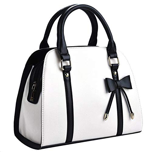 COOFIT Lady Handbag Little Bow Leisure Top-Handle Bags Shoulder Bag Purses and Handbags(White)