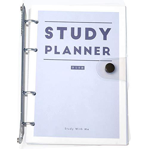 XXT Manual de estudio de hojas sueltas, registro de cursos, cuaderno, calendario, artículos pendientes de hacer, plan de semestre, cuaderno, páginas interiores extraíbles