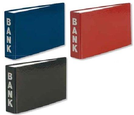 3 Bankordner 140x250mm Ordner für Kontoauszüge blau bourdeaux schwarz