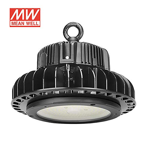 Campana Led industrial UFO HB 150W + MeanWell driver 1-10V regulable, Blanco frío, Regulable