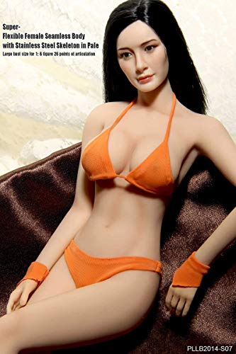 NEDTO Female Seamless Body and Head Set PLLB2014-S07 1/6 Scale Action Figures Dolls Full Silicone Super Flexible