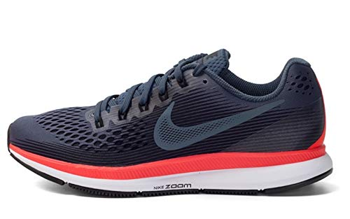Nike Mens Air Zoom Pegasus 34 Running Shoes, Black/Armory Navy-red Orbit, 13