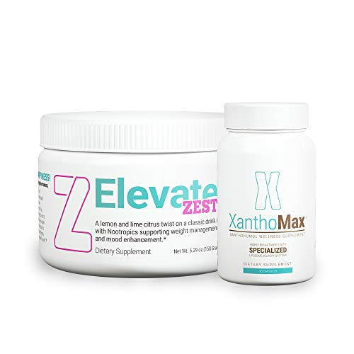 Elevacity - D.O.S.E. Zest - Nootropic Lemon Lime Drink Mix - Duo with Zest and XanthoMax Xanthohumol Antioxidant Supplement - Support Mental Clarity, Memory, and Energy - 30 Servings