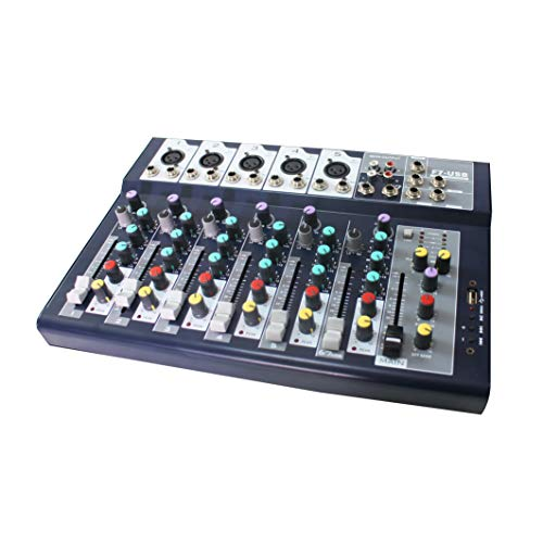 F Series 7 Multi-Channel Analog Mixer with 3-band channel equalizer & USB Audio Interface (7 Channels)
