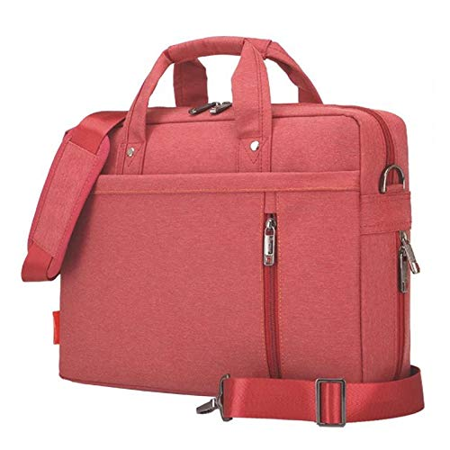 17 inch Laptop Shoulder Bag,Double-Layer Air Cushion Shockproof,Waterproof Business Laptop Cases Briefcase Computer Bags Expandable Capacity for Business Travel School Women Red