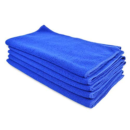 DZSW Toalla 10pcs de limpieza, suave toalla de tela for limpieza y eliminación de polvo, de microfibra toalla de lavado de coches, absorbente antiestático toalla de mano Paños de cocina para lavar pla