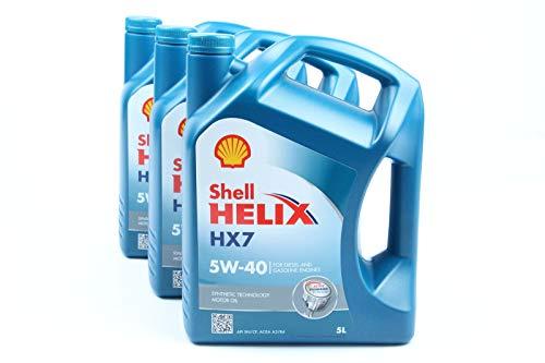 3x5L SHELL HELIX HX7 5W40 MOTORÖL 5W-40 MOTOREN ÖL OEL OIL