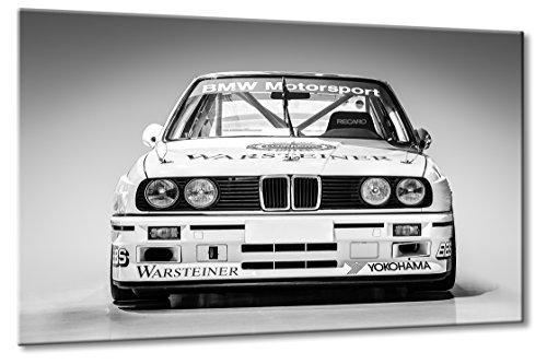 BMW DTM Rennwagen 3 3er Schwarzweiß Wandbild Art Kunst Oldtimer | Aus der Serie BMW Sportwagen | Farbe: schwarzweiss | Rubrik: BMW + Auto Bilder