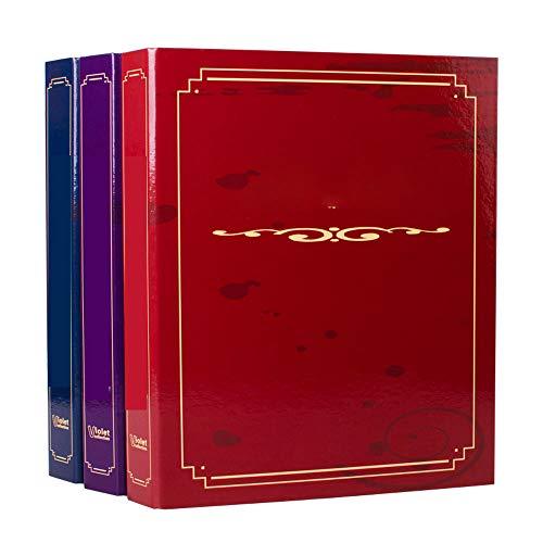 xxz Briefmarkenalbum, großes Fassungsvermögen, dicker Einband mit wasserdichter Folie, umweltfreundliche Innenseite, blanko Etiketten-Design, Briefmarkensammleralbum