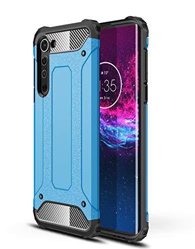 DAMONDY for Motorola Edge 5G Case,Moto Edge Case,Military Grade Drop Dual Layer Hard PC Back Full Body Protective Shockproof Cover Case for Motorola Moto Edge 5G -Blue