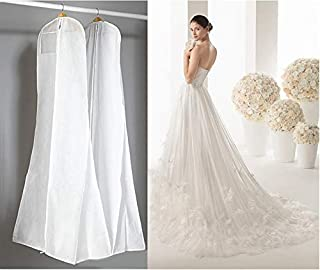 ATUKI Storage Bags|Length 170CM Wedding Dress Bags Clothes Cover Dust Cover Garment Bags Bridal Gown Bag for Mermaid Wedding Dress Cover