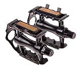 Exporee Pedales de Bicicleta, Pedales de Aluminio Antideslizantes para Bicicleta de Montaña MTB Pedales Híbridos de Bicicleta de Carretera de 9/16 de Pulgada