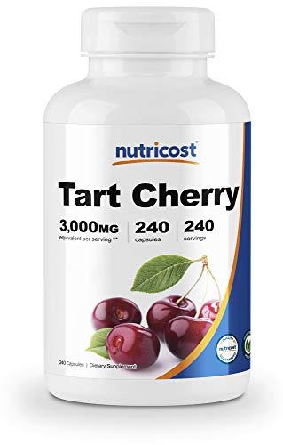 Nutricost Tart Cherry Extract 3000mg, 240 Veggie Capsules - Gluten Free, Non-GMO