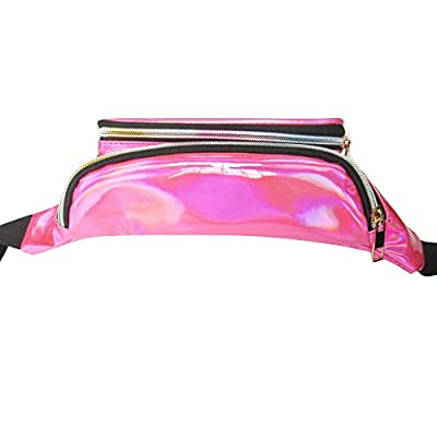Youthny Sac de Taille Arc-en-sac Transparent Punk Banane Rose Bum Bag Pouch
