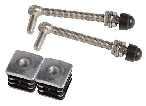 M12 - Juego de 2 tapones para puertas con tapón reforzado, varilla de 150 mm
