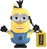 Tribe Los Minions Despicable Me Kevin - Memoria USB 2.0 de 16 GB Pendrive Flash Drive de Goma con Llavero, Color Amarillo