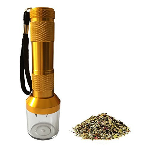 LGtrade Electronic Herb Crusher Grinder Weed for Metal Herb Grinder Tabacco Crusher Grinder Cracker, Gold, Zinc Alloy