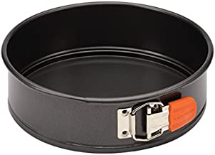 Rachael Ray 57814 Oven Lovin' Nonstick Bakeware Springform Baking Pan With Grips / Nonstick Springform Cake Pan With Grips / Nonstick Cheesecake Pan With Grips, Round - 9 Inch, Gray