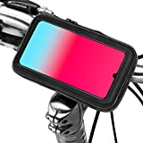 """Soporte movil Moto Bicicleta Bici con Funda Impermeable Valida para telefonos de hasta 7"""" con Enganche de Seguridad al Manillar"""
