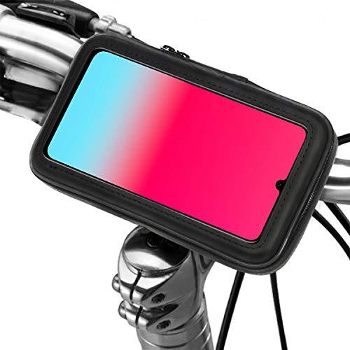 Soporte movil Moto Bicicleta Bici con Funda Impermeable Valida para telefonos de hasta 7
