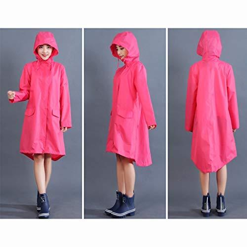 LSLS Raincoat Adult Poncho Raincoat Windbreaker Coat Lady Girl Fashion Poncho Raincoat Travel Drying Ultra-light Raincoat Rain Poncho (Color : B, Size : Medium)