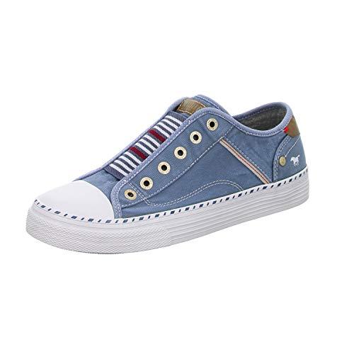 MUSTANG Damen 1376-401 Sneaker, himmelblau, 38 EU