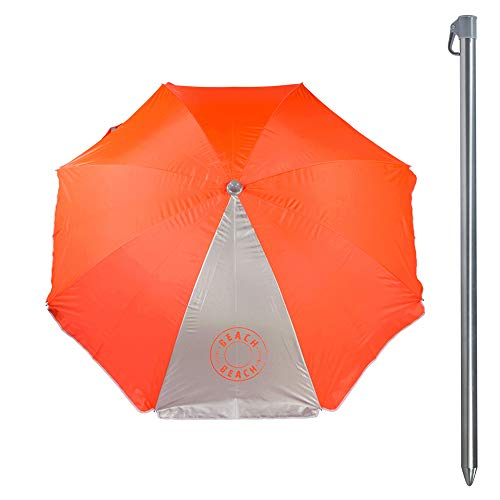 Aktive 62108 Sombrilla 180 cm protección UV50 Beach - 2 surtidos, Diámetro
