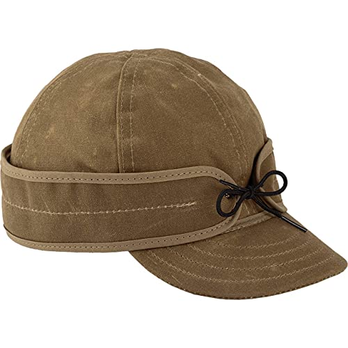 Stormy Kromer Waxed Cotton Cap - Lightweight Fall Hat with Earflaps