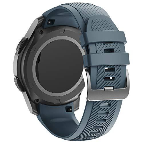 ANBEST Cinturino Sportivo Compatibile con Gear S3 Frontier Cinturino, Braccialetto di Ricambio in Silicone Morbido è Adatto per l'orologio Intelligente Galaxy Watch 46mm/Gear S3 Classic