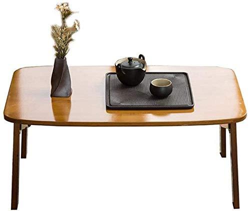 Lazy - Mesa plegable de bambú para estudiantes, escritorio de ordenador plegable para dormitorio, 60 x 40 x 26 cm