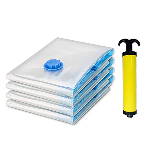 Vacuum Storage Bags, Triple Seal Turbo-Valve with Travel Hand Pump, Double-Zip Seal, Nogis Space Saver Bags for 85% More Compression