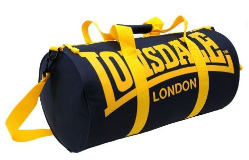 Lonsdale Barrel Bag navy/yellow by Lonsdale
