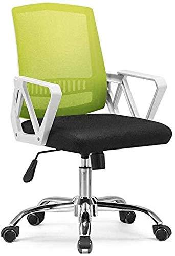 BECCYYLY Silla Silla de Ordenador, de Malla Transpirable Inicio Altura Ajustable sillas giratorias, Respaldo y apoyabrazos Silla de Oficina Silla del Comedor (Color : Green)