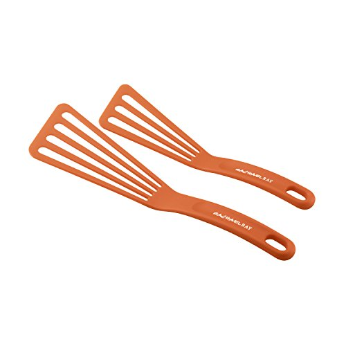 Rachael Ray Kitchen Tools and Gadgets Nylon Cooking Utensils/Spatula/Fish Turners, 2 Piece, Orange