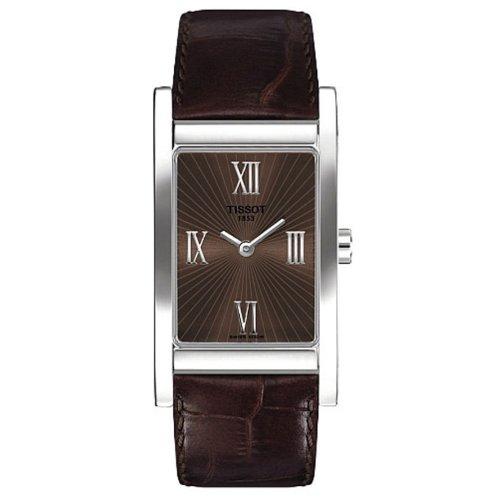 Tissot T0163091629301 - Reloj analógico de mujer de cuarzo con correa de piel marrón