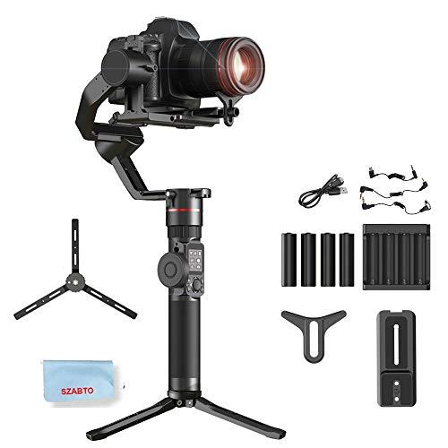 FeiyuTech AK2000 Gimbal Estabilizador de Mano de 3 Ejes diseñado para cámaras DSLR/Cámaras sin Espejo, Se Adapta a Las Cámaras Sony/Canon/Panasonic/Nikon, Carga útil 2.8KG / 6.17lb