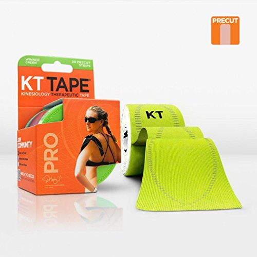 Kinesiology Sports Tape - KT Tape Synthetic Pro, pretagliato 25,4 cm, confezione da 20