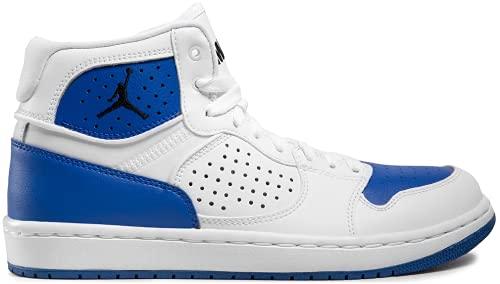 Nike Jordan Access, Scarpe da basket da uomo, bianco e blu, 44.5 EU