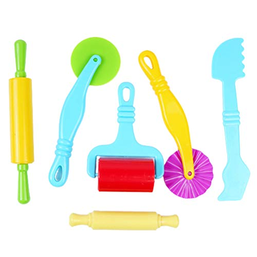 Dough Tools Kit, BDL Play Doh Tools Playdough Tools and Cutters Playdoh Sets for Kids Portable Various Shape Plastic Tool, Clay Rolling Pins, Model and Molds Perfect for Kids, Children