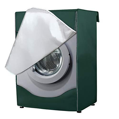 AlaSou Funda Lavadora, Secadora de Carga Frontal para Lavadora Cubierta Impermeable para Lavadora (60 * 85 * 60cm,Green)