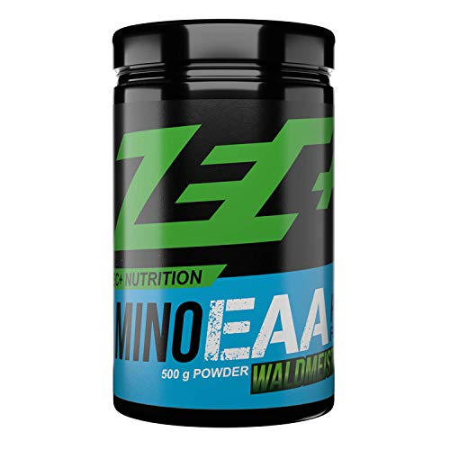 Zec+ Nutrition Amino EAA Pulver – Aminosäuren Pulver mit EAAs & BCAAs - Waldmeister 500 g