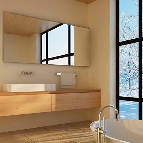 650 Watt Infrarotheizung Spiegel + Steckdosen-Thermostat 70x130cm Rahmenlos