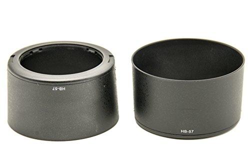 Protastic HB-57 HB57 zonnekap voor Nikon AF-S DX Nikkor 55-300 mm F/4,5-5,6 G ED VR-lens, 2 stuks